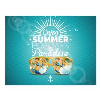 Summer Paradise Design Postcard