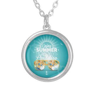 Summer Paradise Design Round Pendant Necklace