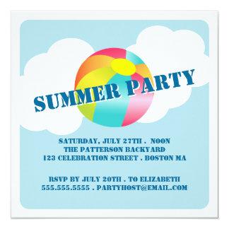 Summer Party Fun Time Beach Ball Invitation