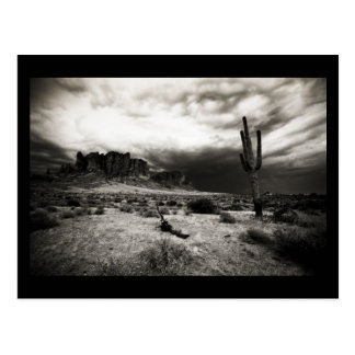 Summer Storm at the Superstition Mountains Postcard