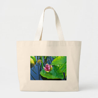 Summery ode ton the Water Lily Jumbo Tote Bag