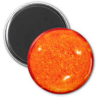 Sun 6 Cm Round Magnet