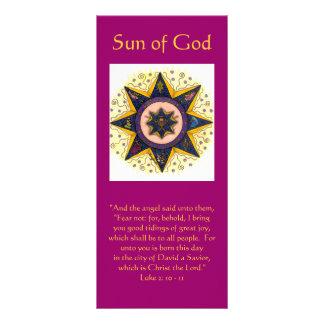 "Sun of God 001, ""And the angel said unto them, ... Customized Rack Card"