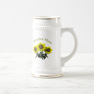 Sunflower Adoptive Mother Mothers Day Gifts Beer Steins