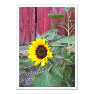Sunflower Farm Photo Invitation Template