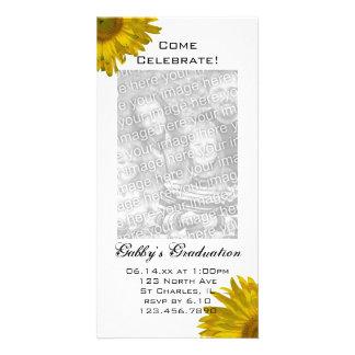 Sunflower Graduation Party Invitation Photo Card