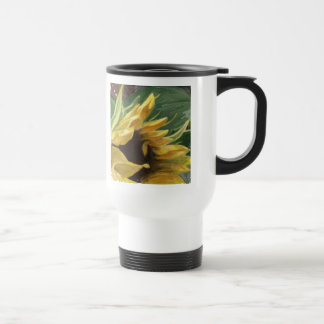 Sunflower - may your days be sunny and bright stainless steel travel mug