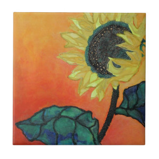Sunflower Small Square Tile