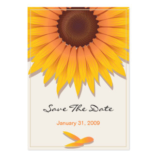 Sunflower Wedding Save The Date MiniCard Pack Of Chubby Business Cards
