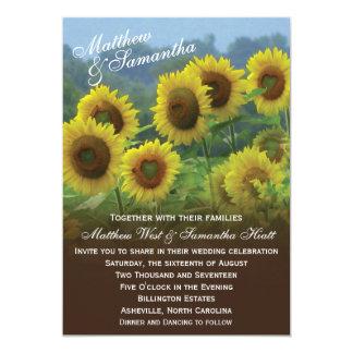 Sunflowers Photo Wedding Invitation