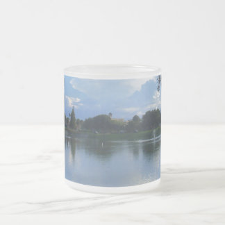 Sunny Day at the Park Frosted Glass Mug