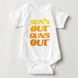 SUN'S OUT GUNS OUT FITNESS AND GYM T SHIRTS