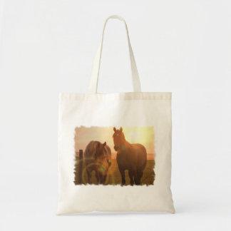 Sunset Horses  Small Bag