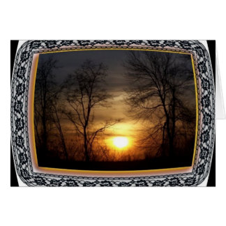 Sunset in NY Greeting Card
