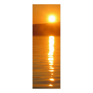 Sunset Over Fjord Bookmark Pack Of Skinny Business Cards