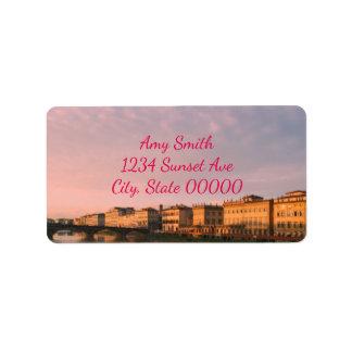 Sunset Over Florence Address Label