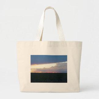 Sunset Storm Showdown Jumbo Tote Bag