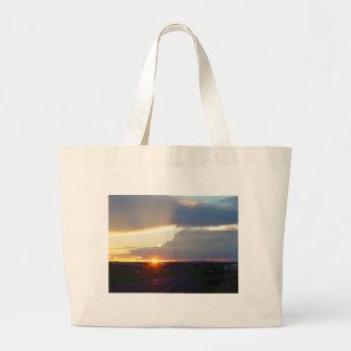 Sunset Storm Sunbeam Jumbo Tote Bag