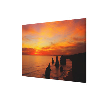 Sunset, Twelve Apostles, Port Campbell National Canvas Prints
