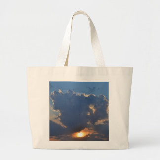 Sunset With Teacup Cloud Formation Jumbo Tote Bag