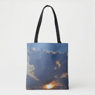 Sunset With Teacup Cloud Formation Tote Bag