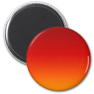 SUNSET (yellow orange evening color fade) ~ 6 Cm Round Magnet