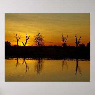 Sunset, Yellow Water Billabong 2 Poster