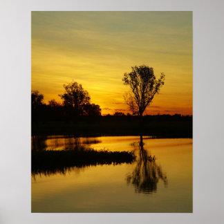 Sunset, Yellow Water Billabong 3 Poster