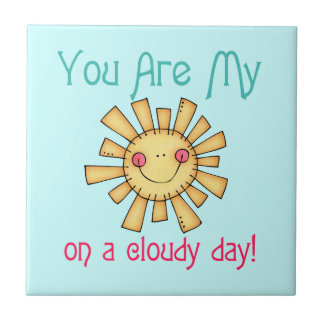 Sunshine on a Cloudy Day Small Square Tile