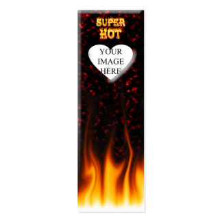 Super Hot fire and red marble heart Pack Of Skinny Business Cards