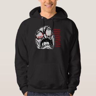 super rage face meme rofl hooded pullover