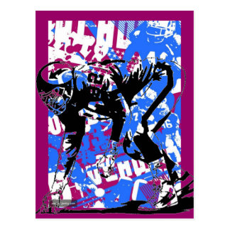 SuperBowl Graffiti postcard