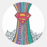 Supergirl Random World 4 Round Sticker