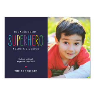 Superhero Needs a Sidekick Pregnancy Announcement