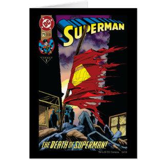 Superman #75 1993 greeting card