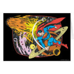 Superman in Space Greeting Card