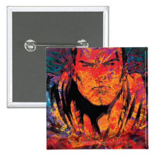 Superman Orange Grunge 15 Cm Square Badge