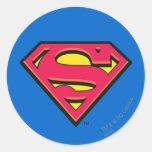 Superman S-Shield   Classic Logo Round Sticker