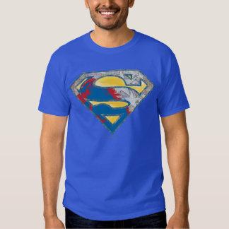 Superman S-Shield | Grey Yellow Red Black Mix Logo T-shirt