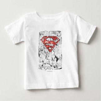 Superman Stylized | Crumpled Comic Logo Tee Shirt