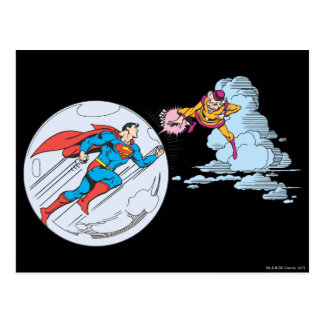 Superman Trapped in Bubble Postcard