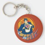 Superman World Hero Basic Round Button Key Ring