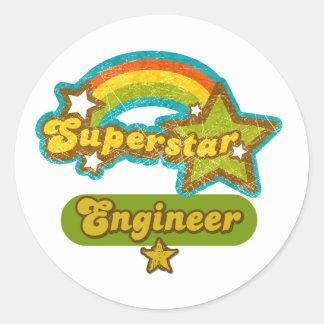 Superstar Engineer Round Sticker