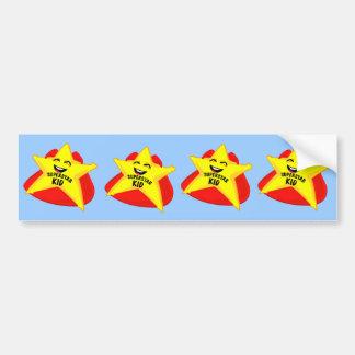 superstar kid funny bumper sticker