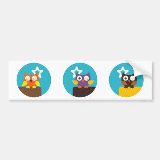 """""""Superstar Owl"""" Bumper Sticker"""