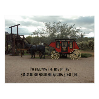 Superstition Mountain Museum Stage Line Postcard