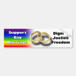Support Gay Marriage Bumper Sticker