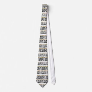 Support National Diabetes Awareness Month November Tie