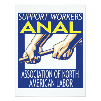 Support Workers Through ANAL 11 Cm X 14 Cm Invitation Card