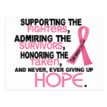Supporting Admiring Honouring 3.2 Breast Cancer Postcard